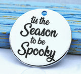 Halloween, spooky charm, spooky, scary, Steel charm 20mm very high quality..Perfect for DIY projects