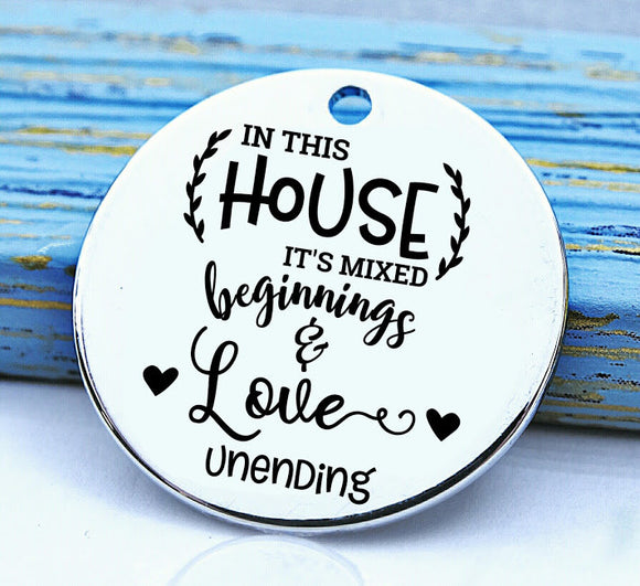 This House, Home, homemade, home charm, Steel charm 20mm very high quality..Perfect for DIY projects