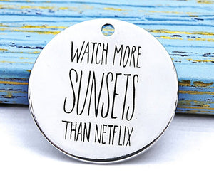 Watch more Sunsets, sunsets, sunset charm, netflix charm, Alloy charm 20mm very high quality..Perfect for DIY projects