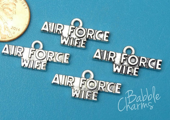 12 pc Air Force wife, Air force, military charm. Alloy charm, very high quality.Perfect for jewery making and other DIY projects