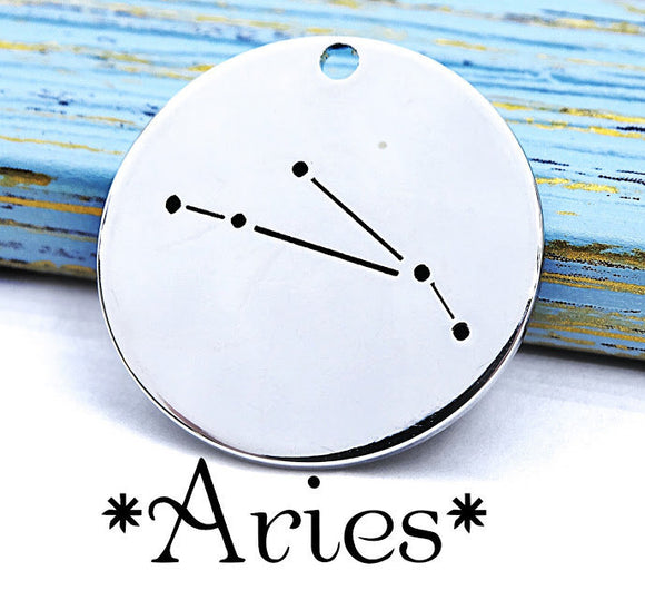 Aries charm, constellation, astrology charm, Alloy charm 20mm very high quality..Perfect for DIY projects