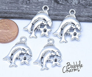 12 pc Pieces charm, fish, astrological charm, zodiac, alloy charm 20mm very high quality..Perfect for jewery making and other DIY projects