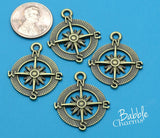 12 pc Compass Charm, bronze compass, compass, Charms, wholesale charm, alloy charm