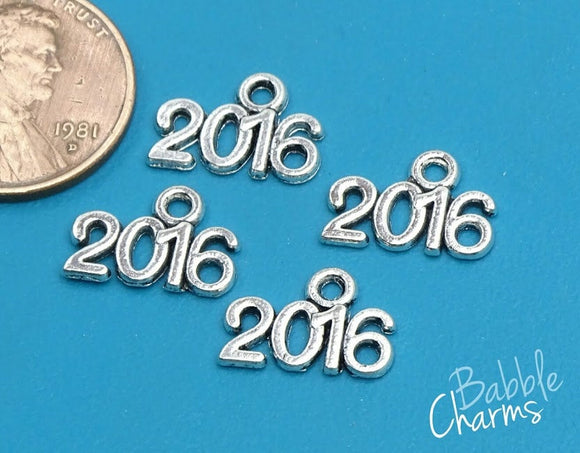 12 pc 2016 charm, graduation cap, graduation, Charms, wholesale charm, alloy charm