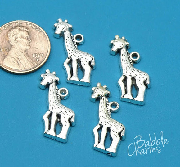 12 pc Giraffe, Giraffe charm, animal charms. Alloy charm ,very high quality.Perfect for jewery making and other DIY projects