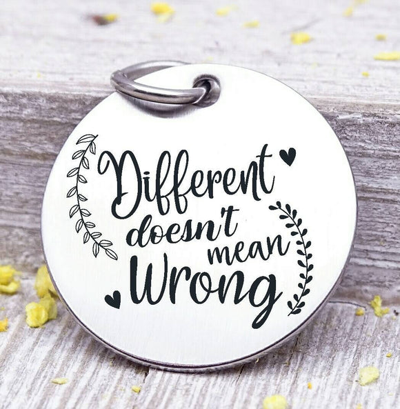 Different doesn't mean wrong, different, not wrong, different charm. Steel charm 20mm very high quality..Perfect for DIY projects
