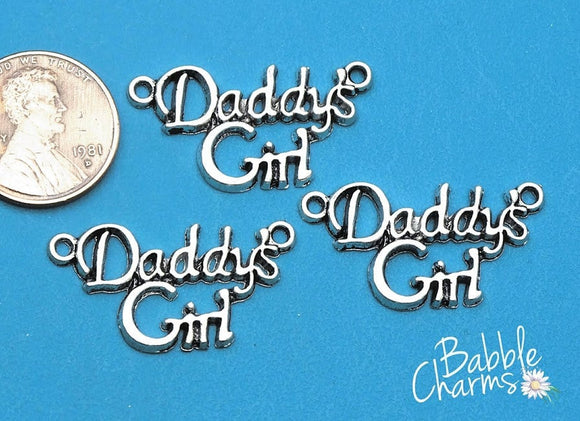 Daddy's Girl Pendant, Daddy's girl, charm, daughter, pendant, Alloy charm ,high quality.Perfect for jewery making and other DIY projects