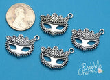 12 pc Mask, mardi gras charm, mask charm, Mardi Gras. Alloy charm ,very high quality.Perfect for jewery making and other DIY projects