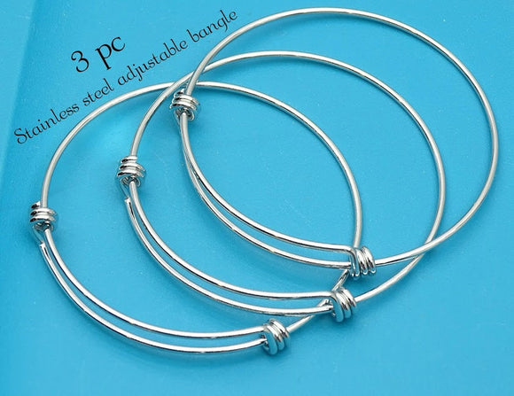 Stainless steel adjustable bracelet 60mm very high quality..Perfect for jewery making and other DIY projects