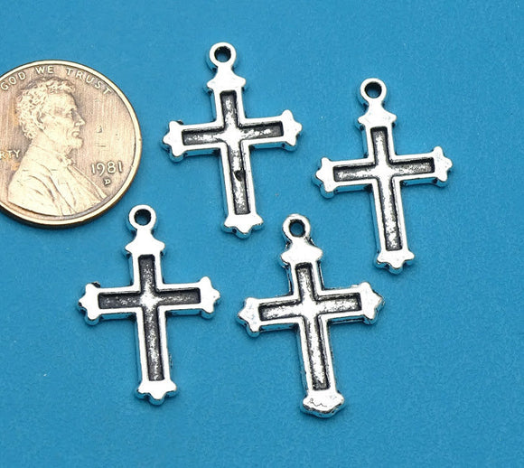 12 pc Cross charm, Cross, cross charms. Alloy charm, very high quality.Perfect for jewery making and other DIY projects