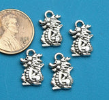 12 pc Dragon charm, dragon, charm, Alloy charm ,high quality.Perfect for jewery making and other DIY projects