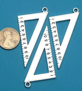 Geometry square, square charm, math, math charm, Charm, Charms, wholesale charm, alloy charm