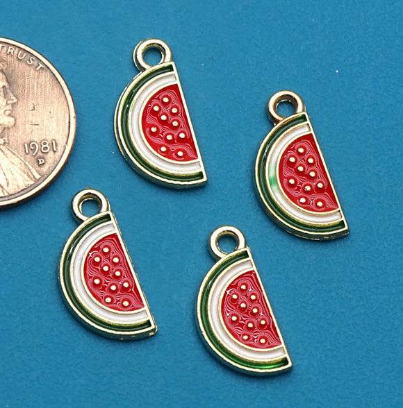 12 pc Watermelon charm, Watermelon, fruit charm, Charms, wholesale charm, charm