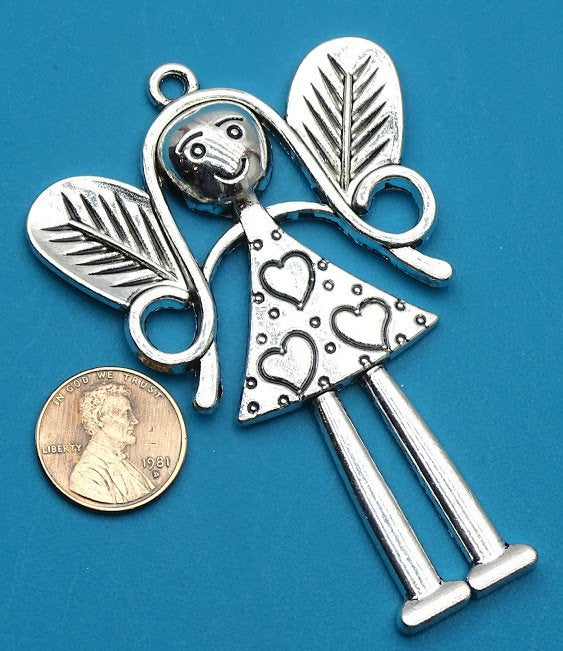 Fairy Pendant, Fairy, charm, Fairy charm, pendant, Alloy charm ,high quality.Perfect for jewery making and other DIY projects