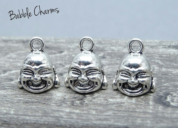 Buddha charm, buddha, buddha head charm. Alloy charm, very high quality.Perfect for jewery making and other DIY projects