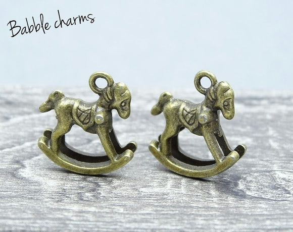 Rocking horse, rocking horse charm, horse charm. Alloy charm, very high quality.Perfect for jewery making and other DIY projects