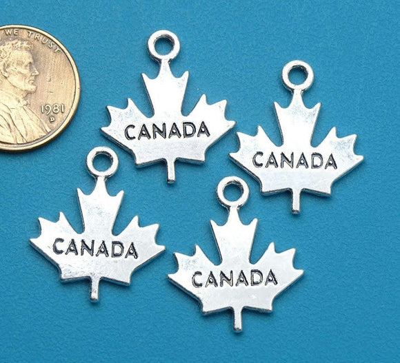 12 pc Canada charm, Maple leaf, canada, canadian, maple leaf charm, Charms, wholesale charm, alloy charm