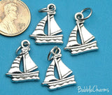 12 pc Boat charm, sailboat, sailboat charm boat, charm, Charms, wholesale charm, alloy charm