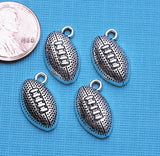 12 pc Football, football charm, sports charms. Alloy charm ,very high quality.Perfect for jewery making and other DIY projects