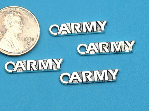 12 pc Army charm, army , army, military charm. Alloy charm, very high quality.Perfect for jewery making and other DIY projects