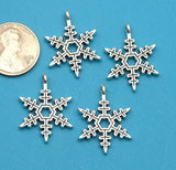 12 pc Snowflake, snowflake charm. Alloy charm ,very high quality.Perfect for jewery making and other DIY projects