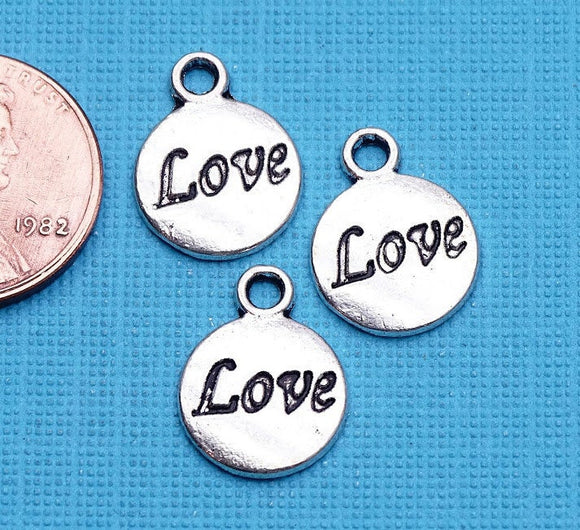 12 pc Love charm, love, love charms, Charms, wholesale charm, alloy charm