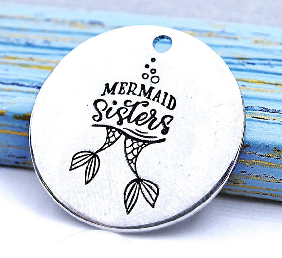 Mermaid sisters, mermaid charm, Alloy charm 20mm very high quality..Perfect for jewery making and other DIY projects #177
