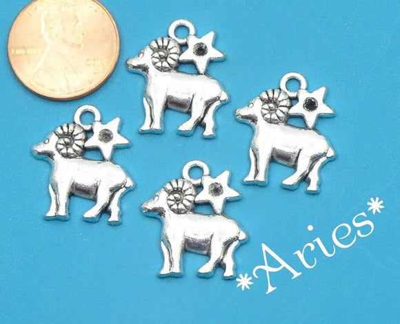 12 pc Aries charm, ram, astrological charm, zodiac, alloy charm 20mm very high quality..Perfect for jewery making and other DIY projects