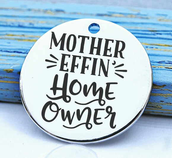 Home Owner, new home, Home Owner charm, Steel charm 20mm very high quality..Perfect for DIY projects