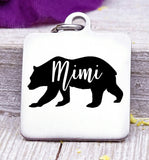 Mimi bear, Mimi bear charm, bear charm, bear, Mimi charm, Steel charm 20mm very high quality..Perfect for DIY projects