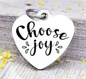 Choose Joy, Choose joy charm, joy, joy charm, Steel charm 20mm very high quality..Perfect for DIY projects
