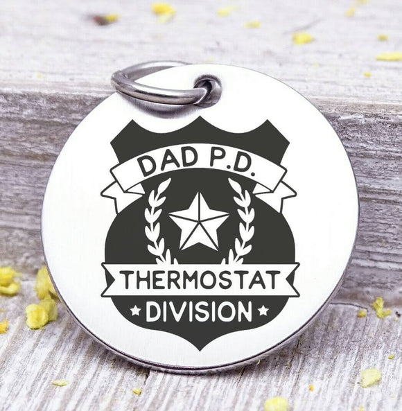 Dad charm, dad p.d. , dad, dad charm, Father's day, Steel charm 20mm very high quality..Perfect for DIY projects