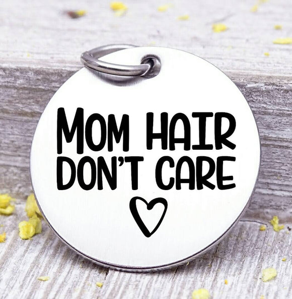Mom hair, mom charm, mother, coffee, mama, mommy, mom charms, Steel charm 20mm very high quality..Perfect for DIY projects