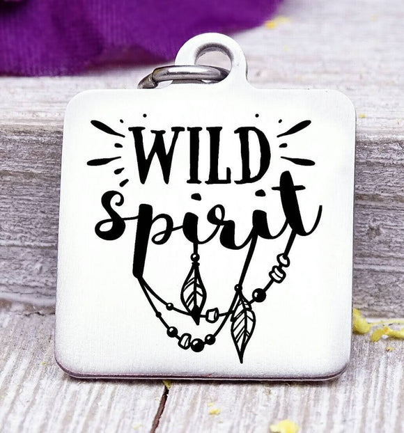 Wild spirit, wild spirit charm, wild, charm, Steel charm 20mm very high quality..Perfect for DIY projects