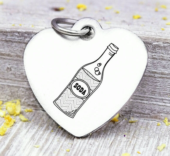 Soda, soda charm, soda pop, pop charm, Steel charm 20mm very high quality..Perfect for DIY projects