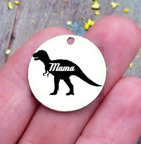 Mamasaurus, mama saurus, mama charm, steel charm 20mm very high quality..Perfect for jewery making and other DIY projects
