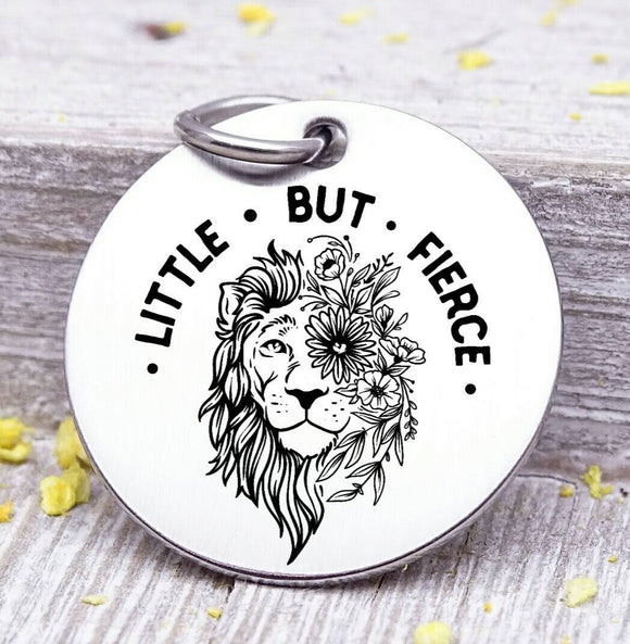 Little but fierce, fierce, lion, lion charm, Steel charm 20mm very high quality..Perfect for DIY projects