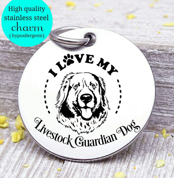 Love my dog, Livestock Dog , Dog mom, fur mom, fur mama, dog mom charm, Steel charm 20mm very high quality..Perfect for DIY projects
