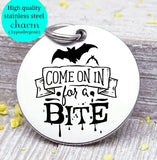 Come in for a bite, bat, vampire charm, halloween, Steel charm 20mm very high quality..Perfect for DIY projects