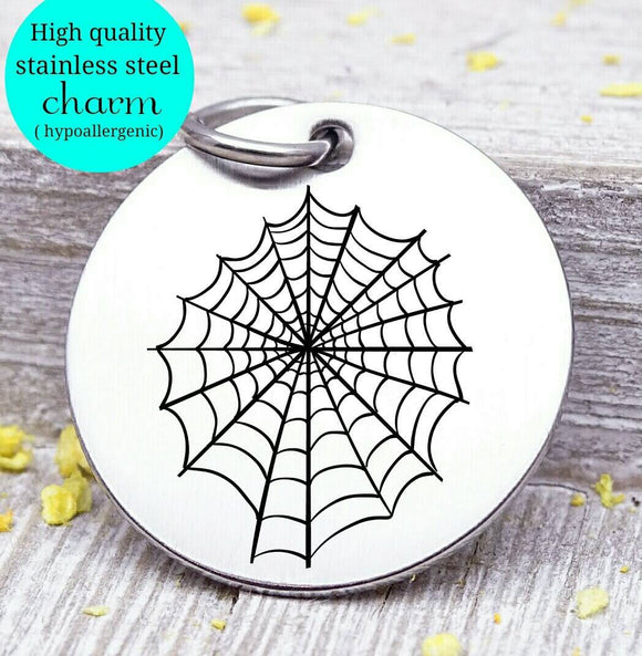 Spiderweb, Halloween, spiderweb charm, halloween charm, Steel charm 20mm very high quality..Perfect for DIY projects