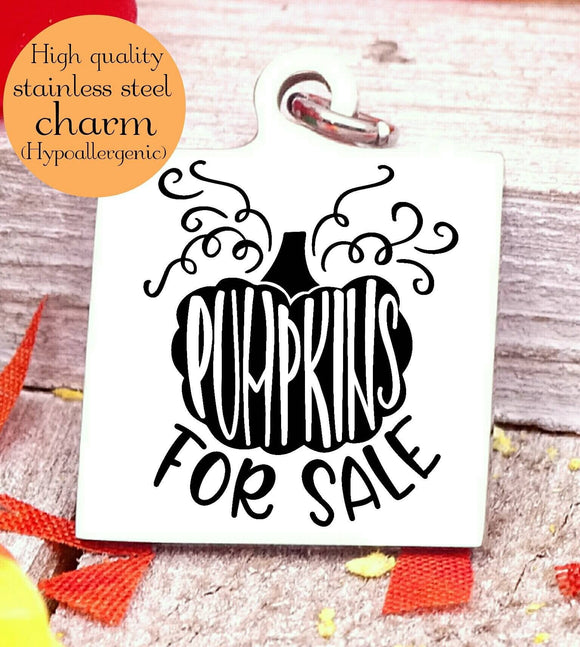 Pumpkins for sale, pumpkin charm, Autumn, Fall charm, fall charms, Steel charm 20mm very high quality..Perfect for DIY projects