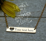 Stainless Steel Bar Necklace, name necklace, very high quality.Perfect for jewery making and other DIY projects