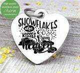 Snowflakes, snowflakes charm, heaven, christmas, christmas charm, Steel charm 20mm very high quality..Perfect for DIY projects