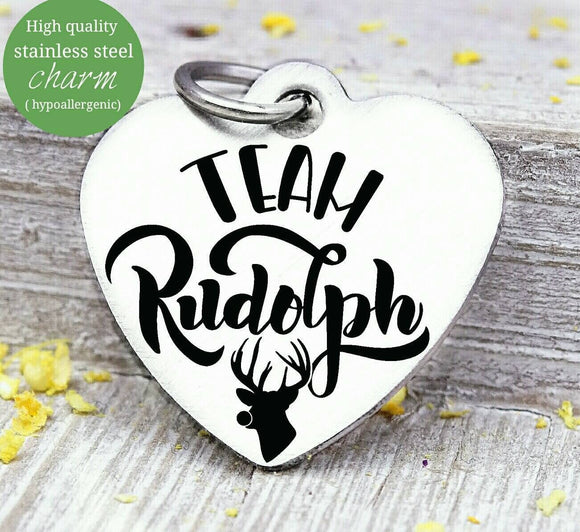 Rudolph, Rudolph charm, christmas, christmas charm, Steel charm 20mm very high quality..Perfect for DIY projects
