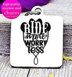 Ride more worry less, horse, horse back riding charm. Steel charm 20mm very high quality..Perfect for DIY projects