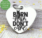 Barn hair don't care, barn hair, horse, horse charm. Steel charm 20mm very high quality..Perfect for DIY projects