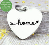 Home, welcome home charm, home, home charm, Steel charm 20mm very high quality..Perfect for DIY projects