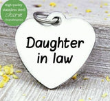Daughter in Law, Daughter in law charm, daughter charm, steel charm 20mm very high quality..Perfect for jewery making and other DIY projects