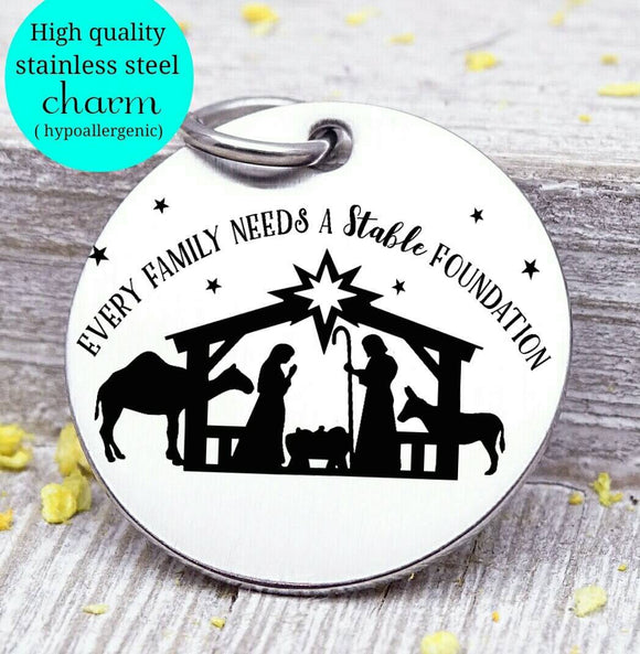 Nativity, nativity charm, Christmas, Christmas charms, Steel charm 20mm very high quality..Perfect for DIY projects