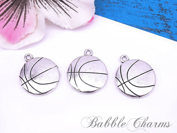 12 pc basketball, basketball charm, sports charms. Alloy charm ,very high quality.Perfect for jewery making and other DIY projects